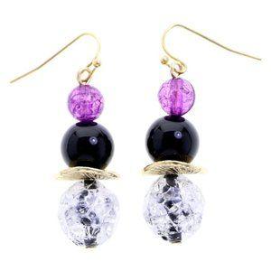 3/$20 Catherines black and purple beaded dangles